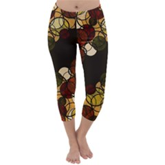 Autumn Bubbles Capri Winter Leggings