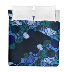Blue Bubbles Duvet Cover Double Side (full/ Double Size) by Valentinaart
