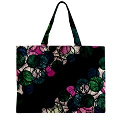 Green And Pink Bubbles Zipper Mini Tote Bag by Valentinaart