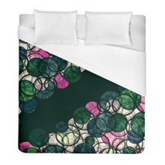 Green And Pink Bubbles Duvet Cover (full/ Double Size) by Valentinaart