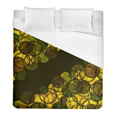 Yellow Bubbles Duvet Cover (full/ Double Size) by Valentinaart