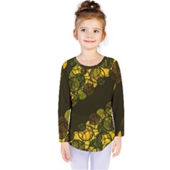 Yellow Bubbles Kids  Long Sleeve Tee by Valentinaart