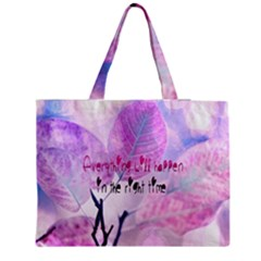 Magic Leaves Medium Zipper Tote Bag by Brittlevirginclothing