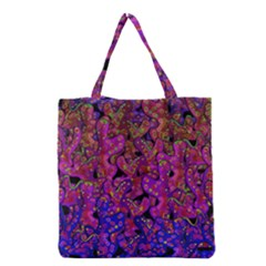 Purple Corals Grocery Tote Bag by Valentinaart
