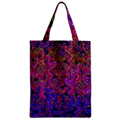 Purple Corals Zipper Classic Tote Bag by Valentinaart