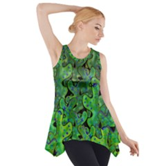 Green Corals Side Drop Tank Tunic
