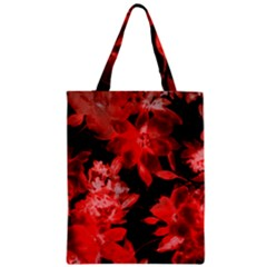 Red Flower  Zipper Classic Tote Bag by Brittlevirginclothing