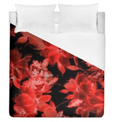 Red Flower  Duvet Cover (queen Size)