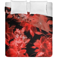 Red Flower  Duvet Cover Double Side (california King Size) by Brittlevirginclothing