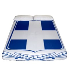 Coat Of Arms Of Greece Fitted Sheet (california King Size) by abbeyz71