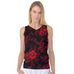 Small Red Roses Women s Basketball Tank Top by Brittlevirginclothing