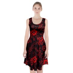 Small Red Roses Racerback Midi Dress by Brittlevirginclothing