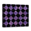 SQUARE2 BLACK MARBLE & PURPLE MARBLE Deluxe Canvas 24  x 20  (Stretched) View1