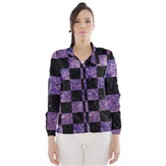 Square1 Black Marble & Purple Marble Wind Breaker (women)