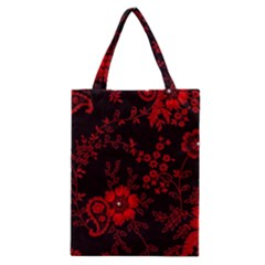 Small Red Roses Classic Tote Bag by Brittlevirginclothing