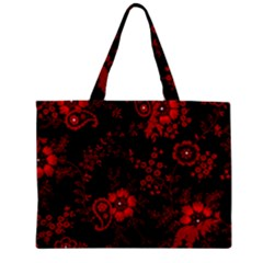 Small Red Roses Zipper Mini Tote Bag by Brittlevirginclothing