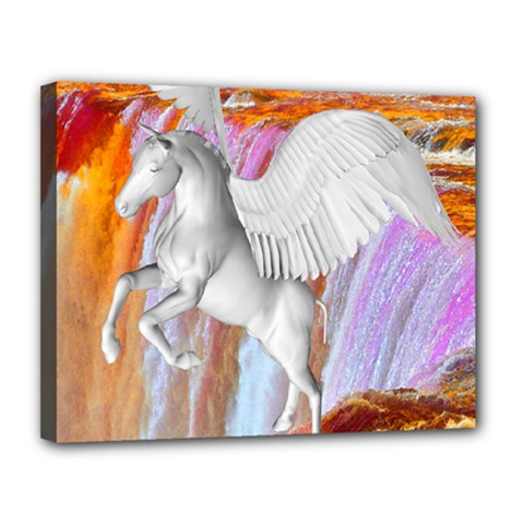 Pegasus Canvas 14  X 11  by icarusismartdesigns