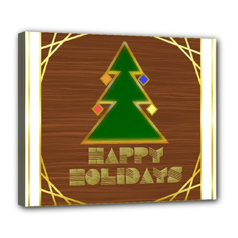 Art Deco Holiday Card Deluxe Canvas 24  X 20