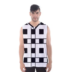 Black And White Pattern Men s Basketball Tank Top