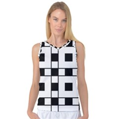 Black And White Pattern Women s Basketball Tank Top