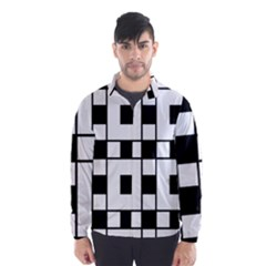 Black And White Pattern Wind Breaker (men)