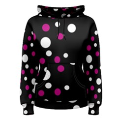 Pink And White Dots Women s Pullover Hoodie