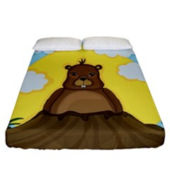 Groundhog Day  Fitted Sheet (california King Size)