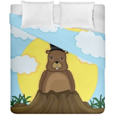Groundhog Duvet Cover Double Side (california King Size)