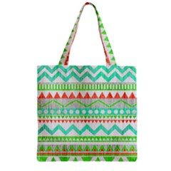 Cute Bohemian  Zipper Grocery Tote Bag by Brittlevirginclothing