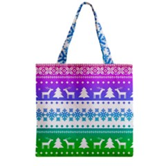 Cute Rainbow Bohemian Grocery Tote Bag by Brittlevirginclothing