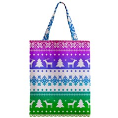 Cute Rainbow Bohemian Zipper Classic Tote Bag by Brittlevirginclothing