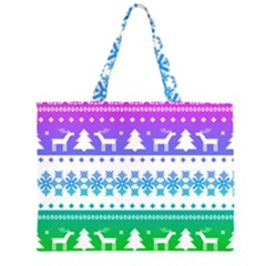 Cute Rainbow Bohemian Zipper Large Tote Bag by Brittlevirginclothing