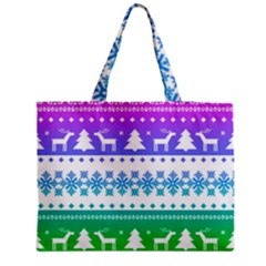 Cute Rainbow Bohemian Medium Zipper Tote Bag by Brittlevirginclothing