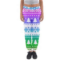 Cute Rainbow Bohemian Women s Jogger Sweatpants by Brittlevirginclothing