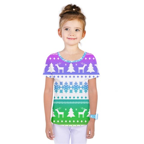 Cute Rainbow Bohemian Kids  One Piece Tee by Brittlevirginclothing
