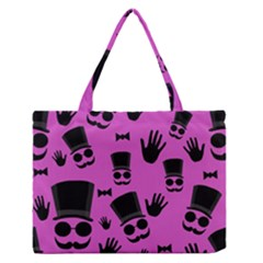 Gentleman   Magenta Pattern Medium Zipper Tote Bag by Valentinaart
