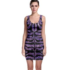 Skin2 Black Marble & Purple Marble (r) Bodycon Dress