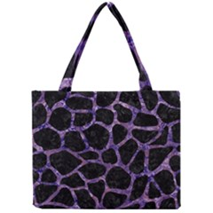 Skin1 Black Marble & Purple Marble (r) Mini Tote Bag by trendistuff
