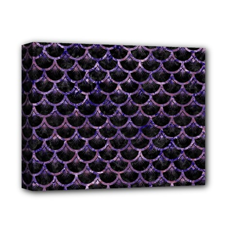 Scales3 Black Marble & Purple Marble Deluxe Canvas 14  X 11  (stretched) by trendistuff