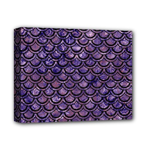Scales2 Black Marble & Purple Marble (r) Deluxe Canvas 14  X 11  (stretched) by trendistuff