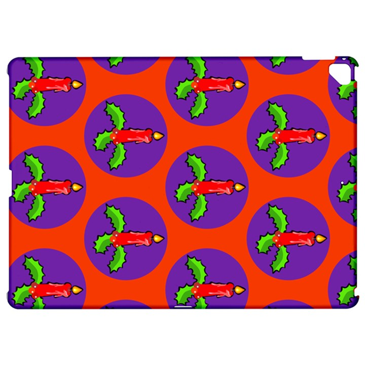 Christmas Candles Seamless Pattern Apple iPad Pro 12.9   Hardshell Case