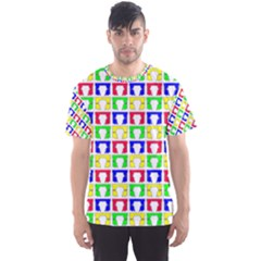 Colorful Curtains Seamless Pattern Men s Sport Mesh Tee