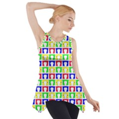 Colorful Curtains Seamless Pattern Side Drop Tank Tunic