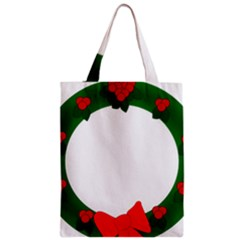 Holiday Wreath Zipper Classic Tote Bag