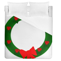 Holiday Wreath Duvet Cover (queen Size)