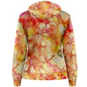 Monotype Art Pattern Leaves Colored Autumn Women s Pullover Hoodie View2
