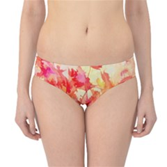 Monotype Art Pattern Leaves Colored Autumn Hipster Bikini Bottoms by Amaryn4rt