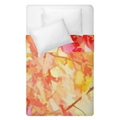 Monotype Art Pattern Leaves Colored Autumn Duvet Cover Double Side (single Size)