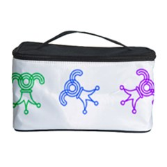 Rainbow Clown Pattern Cosmetic Storage Case by Amaryn4rt