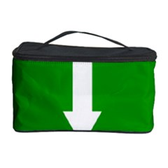 Arrow Green Cosmetic Storage Case by AnjaniArt